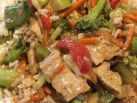 Stir Fry With Frozen Vegetables And Chicken | Oriental Stir Fry Recipe | Chicken Stir Fry Video