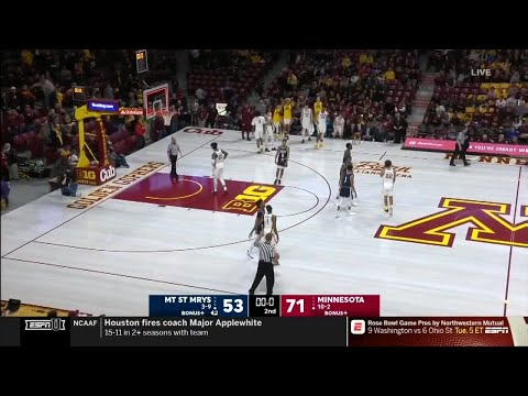 Highlights: Mt. St. Mary's at Minnesota | Big Ten Basketball