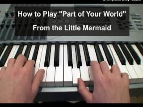 Part Of Your World Piano Tutorial Youtube