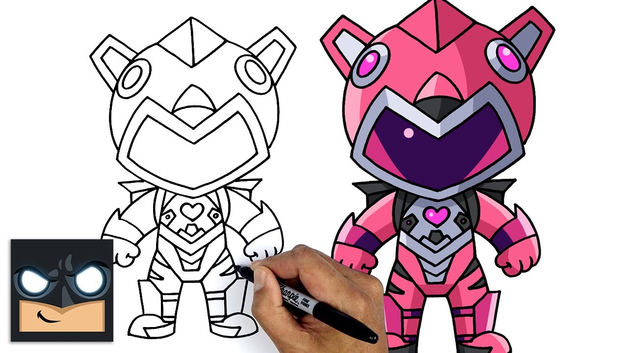 How To Draw FORTNITE   MECHA CUDDLE MASTER Drawing Tutorial