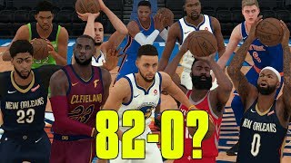 Can The Top 2 Players From Each Position Go 82-0? NBA 2K18 Challenge!