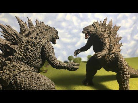 Godzilla 2014 vs Godzilla 2019 (Stop Motion)