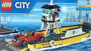 Lego City Ferry with Sports Car 60119 - Lego City Boat with Ship Captain - Lego Speed Build