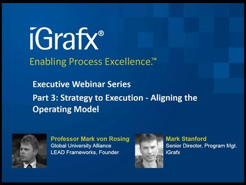 iGrafx Webinar: Strategy to Execution - Aligning the Operating Model feat. Prof. Mark von Rosing