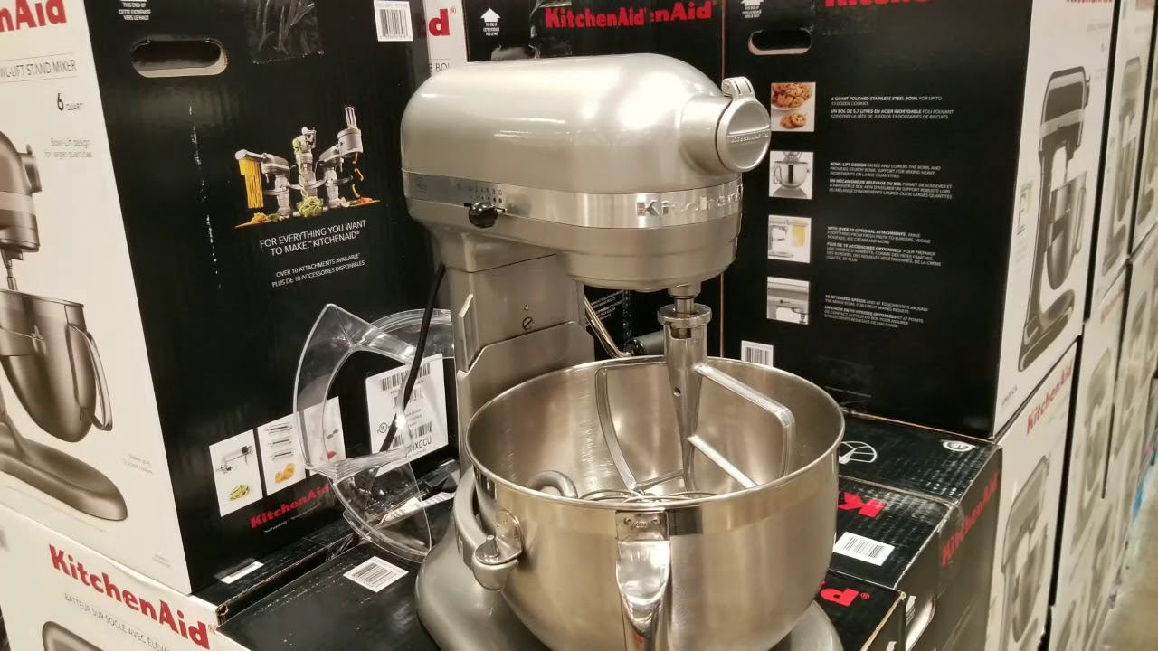 costco kitchenaid 6qt bowl lift mixer 249 150 off youtube rh youtube com costco kitchenaid blender