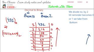 Binary, Decimal, Octal, Hexadecimal conversion| ICT class 3 | in Hindi