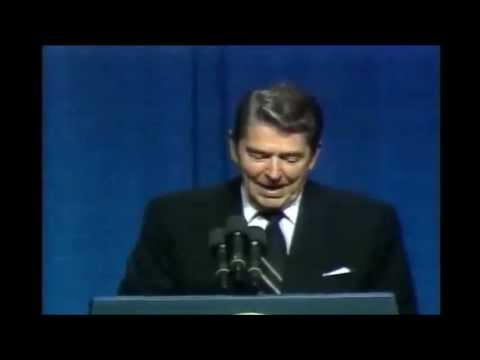 Ronald Reagan - Joke About Democrats