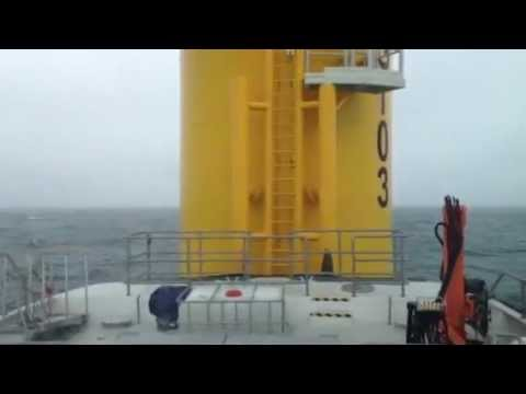 GINNY LOUISE on sea trials on the Greater Gabbard Offshore Windfarm. 2.5 - 3.5m sea.