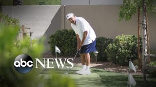 OJ Simpson photographed golfing after prison release