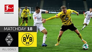 Haaland Brace in 6 Goal Thriller | Borussia M'gladbach - Borussia Dortmund | 4-2 | All Goals | MD 18