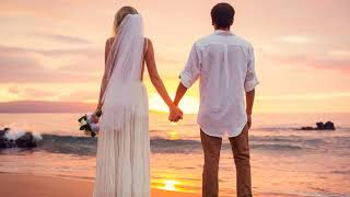 Картинка свадебная. Свадьба, море, закат, невеста, пляж, облака, небо, природа.