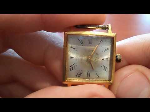 Женские часы Луч позолота
