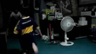 龍馬対遥のサッカー対決!