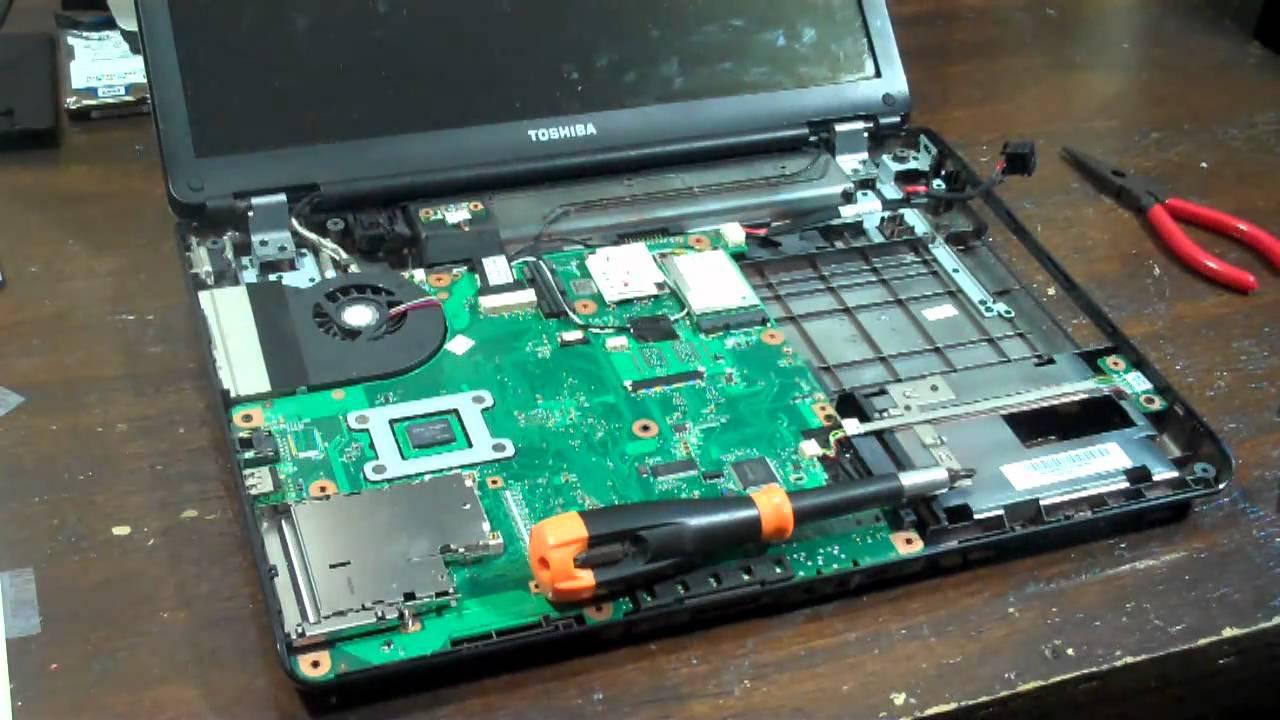 Toshiba Satellite L305 S5919 Broken Dc Jack Youtube