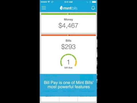 Mint Bills for iPhone