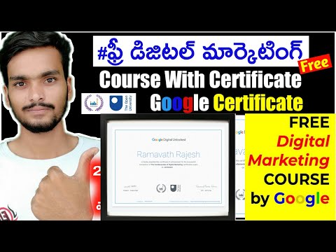 Free Digital Marketing Course By Google   Digital Marketing Course With Google Certificate Telugu