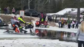 4 people sink snowmobile