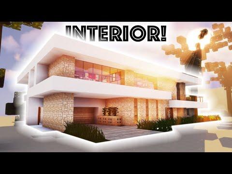 Minecraft Tutorial: Modern Beach Mansion #2! (Interior) [4K UHD]