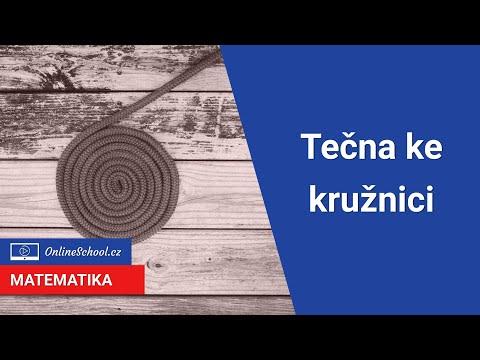 Tečna ke kružnici   17/24 Analytická geometrie   Matematika   Onlineschool.cz