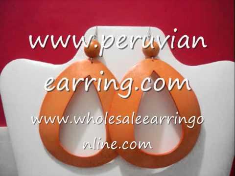 coconut earrings Coconut shell Tear Drop 108.wmv