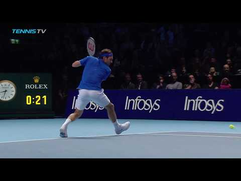 Roger Federer cheeky shots vs Anderson   Nitto ATP Finals 2018