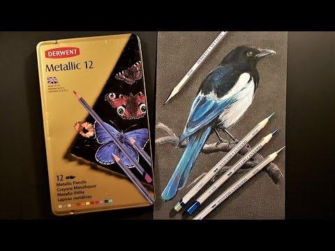 Derwent Metallic Pencils Review & Demo