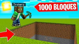 COMO PICAR 1000 BLOQUES de UNA VEZ en MINECRAFT!