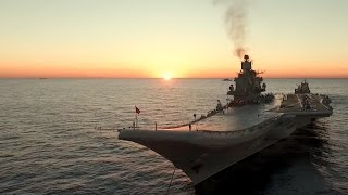 Адмирал Кузнецов  Вечер на рейде