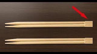 ★ Тайное предназначение столбиков в китайских палочках для еды. Мы разламываем палочки неправильно.