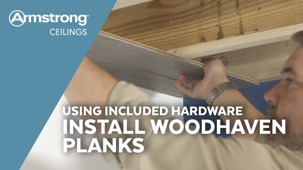 Installing Tongue & Groove Wood Ceiling Planks with Included Parts   Armstrong Ceilings for the Home