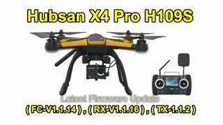 Hubsan X4 H109S Firmware Update (From Banggood)