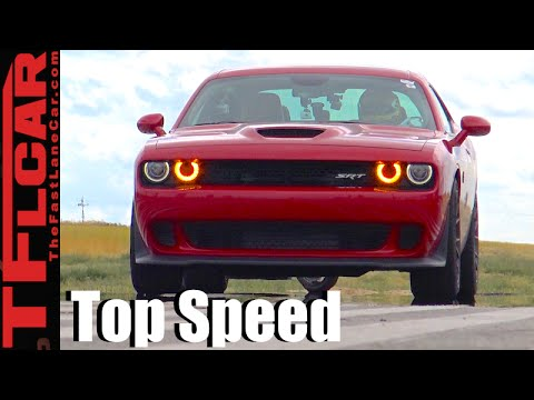 2016 Dodge Challenger Hellcat VS One Mile Top Speed Racing: How Fast Is a Hellcat - Ep.7