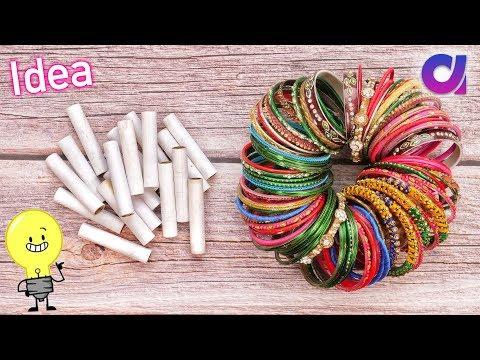 Best out of waste Bangles & Thread Spools Craft idea | DIY Home Decor | Artkala