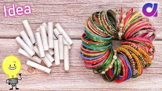 Best out of waste Bangles & Thread Spools Craft idea | DIY Home Decor | Artkala
