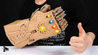 DIY Thanos Infinity Gauntlet Avengers From Cardboard