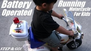 Power Ride On Motorcycle for Kids - His NEW Motorcycle Riding Toy!