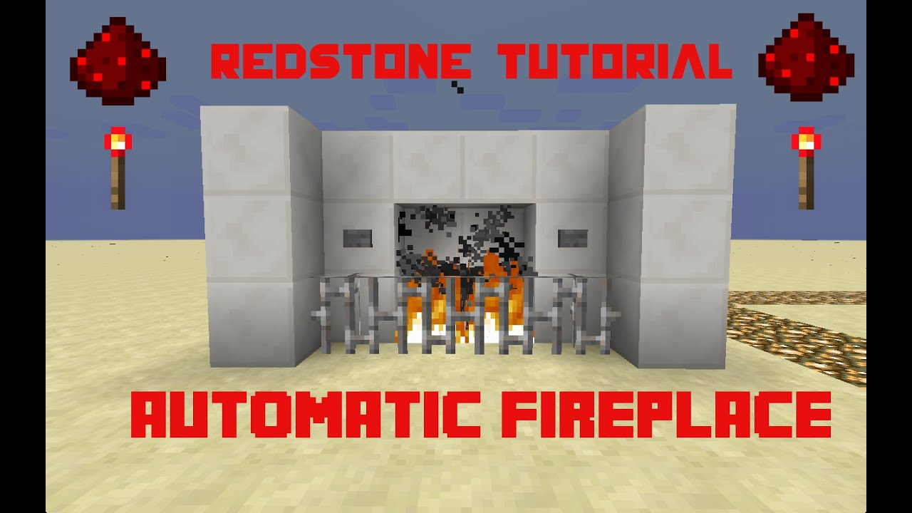 Minecraft | Redstone Tutorial Automatic Fireplace | WORKING 1.10 ...