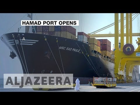 Qatar emir officially inaugurates Hamad Port