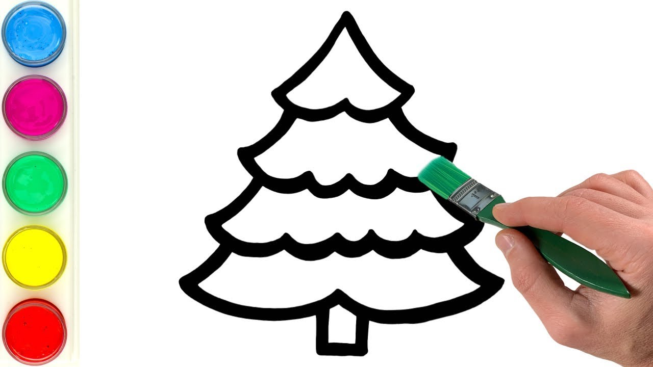 How to Draw and Paint Christmas Tree | Watercolor ...