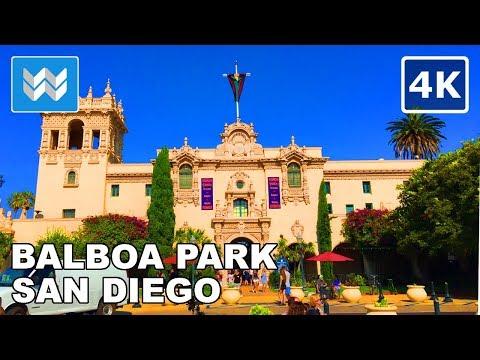 Walking tour of Balboa Park in San Diego, California | Travel Guide 【4K】