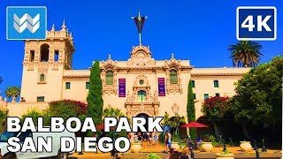 Walking tour of Balboa Park in San Diego, California | Travel Guide 【4K】