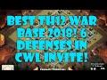 BEST TH12 WAR BASE 2018, 6 DEFENSES IN CWL INVITE, TH12 BASE WHF