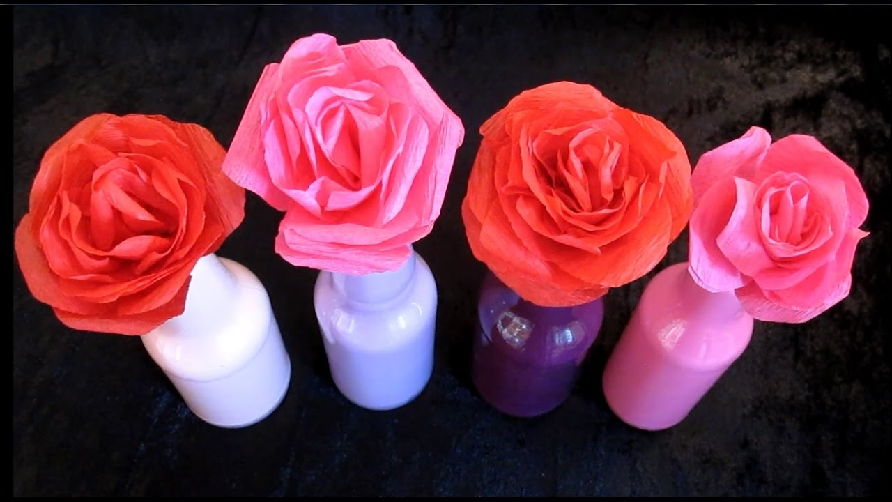 Diy Paper Rose Flower Bouquet Diy Mothers Day Gift Ideas Easy