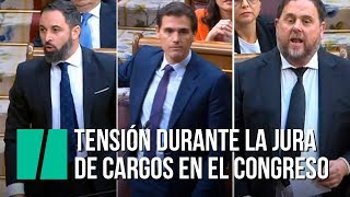 Tensión en el Congreso de los Diputados durante la jura de cargos