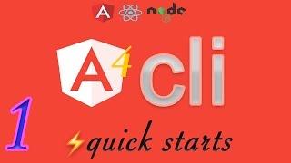 angular cli quickstarts 1