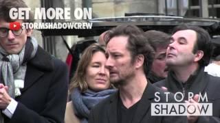 Francois Xavier Demaison, Jean Rochefort aux Obseques de Daniele Delorme - Part 2
