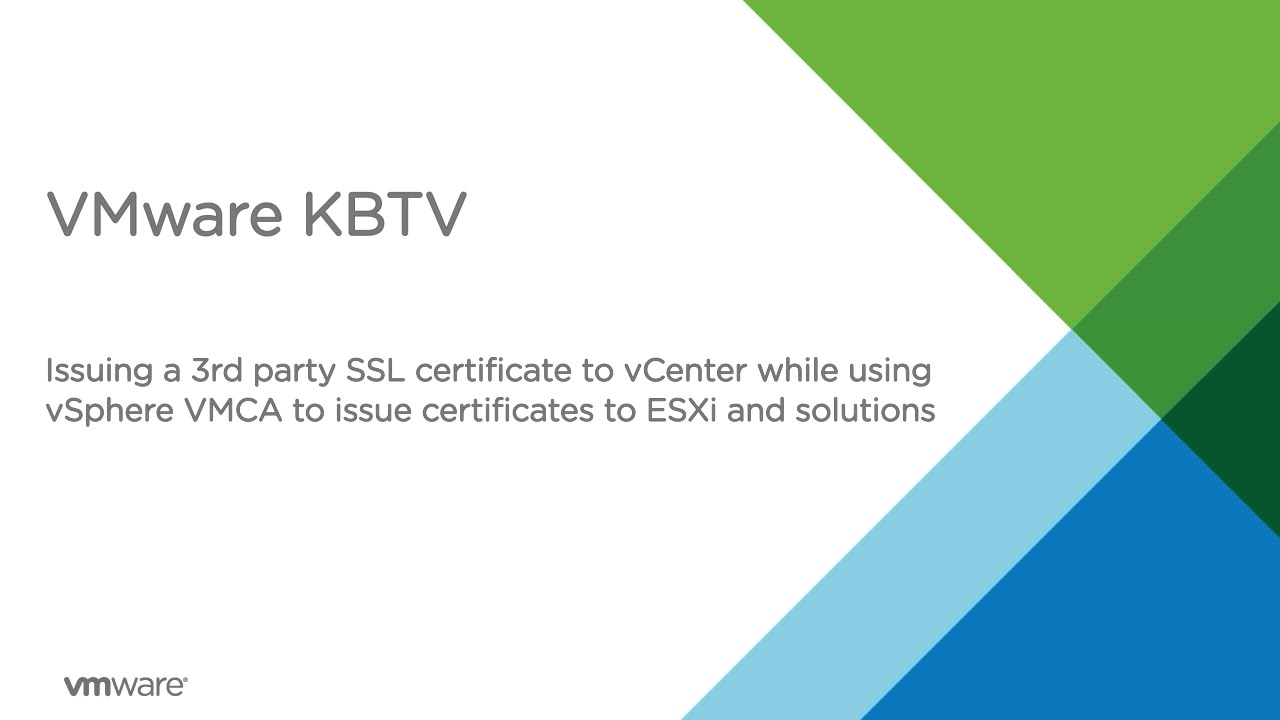 Issuing a 3rd party ssl certificate to vcenter while using vsphere issuing a 3rd party ssl certificate to vcenter while using vsphere vmca to issue certs to esxi xflitez Images