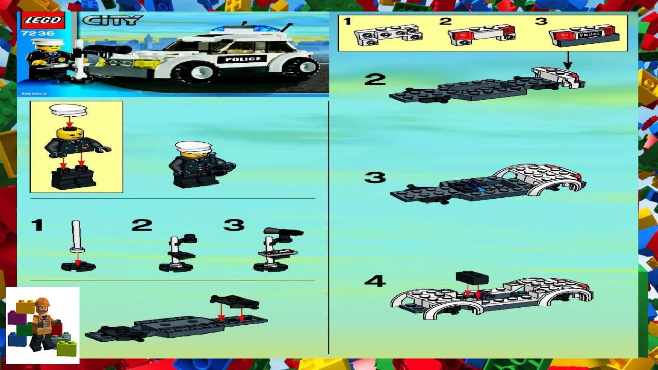 Lego Instructions City Police 7236 Police Car Youtube