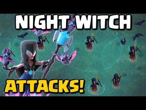 NIGHT WITCH ATTACKS! Clash of Clans New Troop - Builder Base Level 6 CoC Update - June 2017
