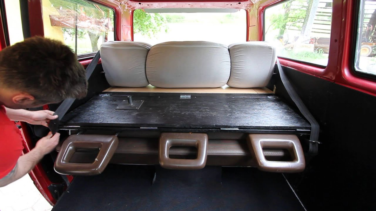Vw T3 Back Seats Bed Youtube